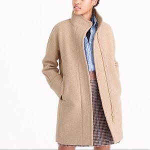 J Crew Mercantile City Coat Wool Blend 00 Petite 00P Tan (I)